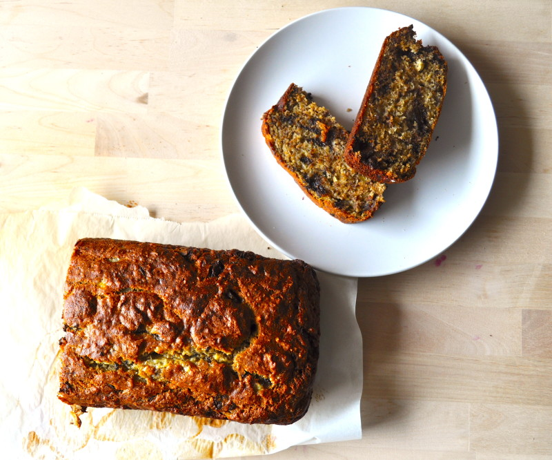 Banana Bread with Chocolate Chunks Recipe