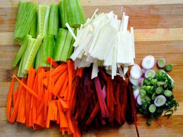 slaw veggies