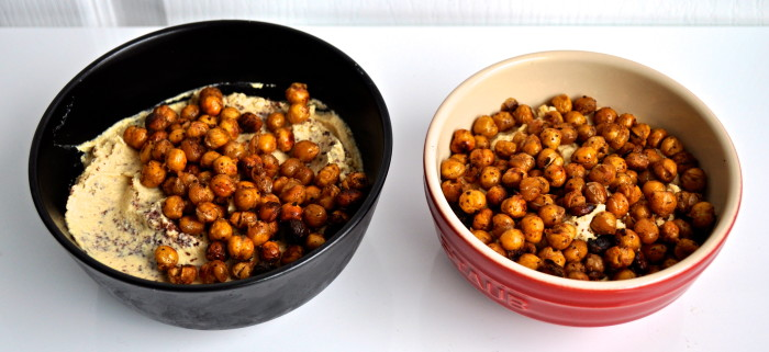 hummus and crunchy chickpeas