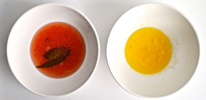clarified butter and vinegar