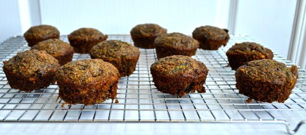 zucchini buckwheat muffins