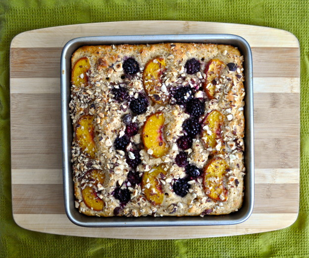 blackberry, peach cake