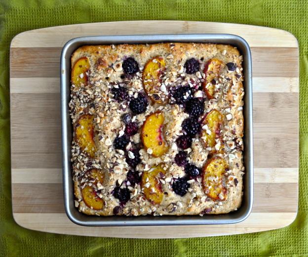 blackberry, peach cake