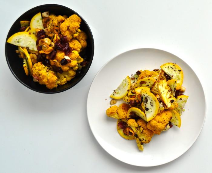 cauliflower, zucchini and hazelnut salad