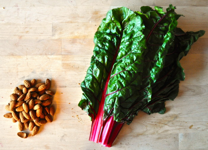 swiss chard and almonds