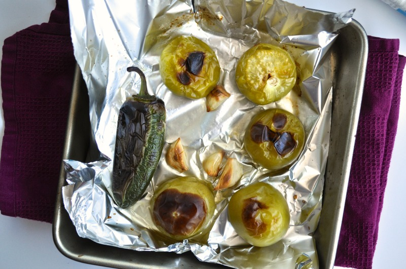 roasted tomatillo