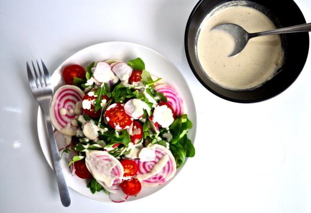 raw beet and radish salad