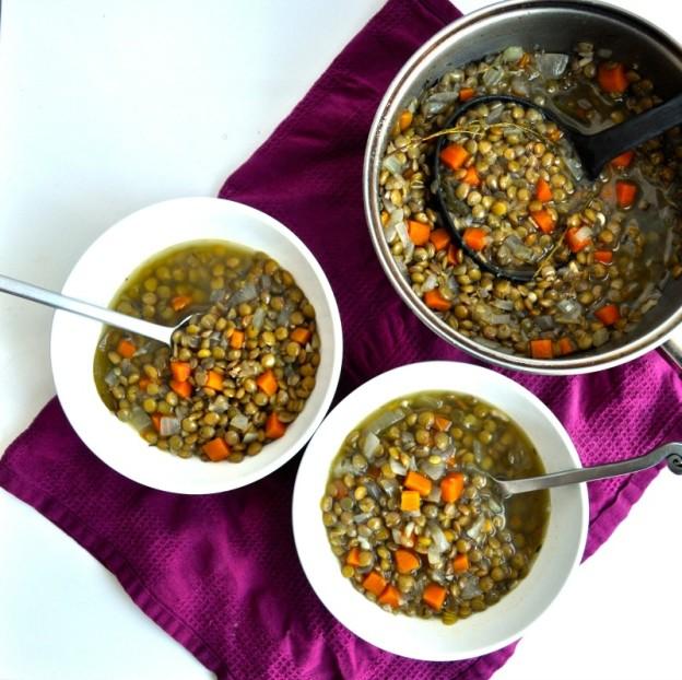 warm lentil soup