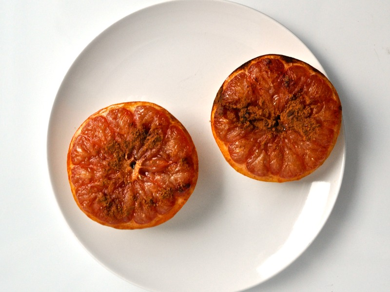 broiled grapefruit halves
