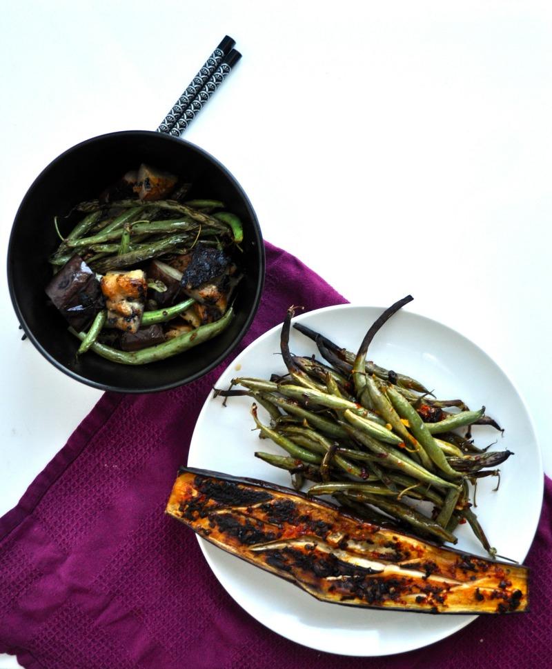 sambal eggplant and green bean