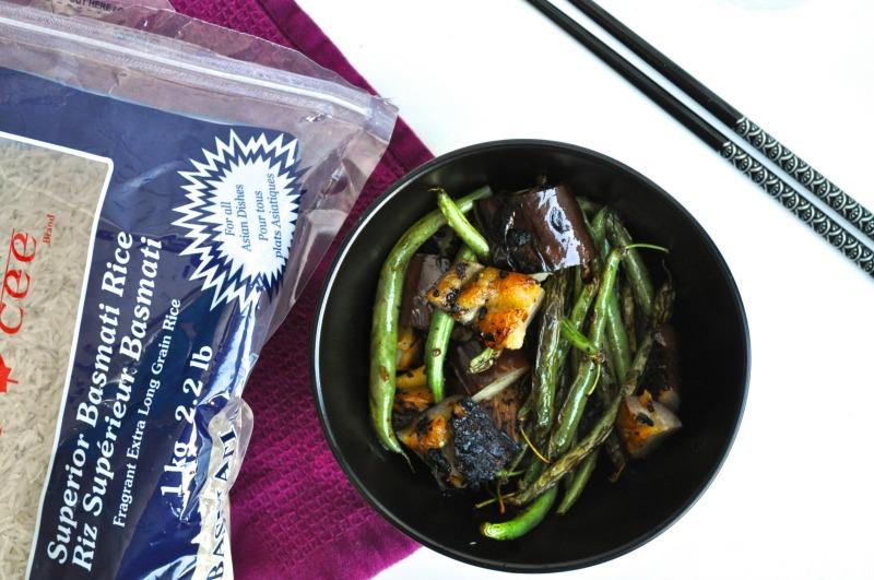 sambal eggplant and green beans