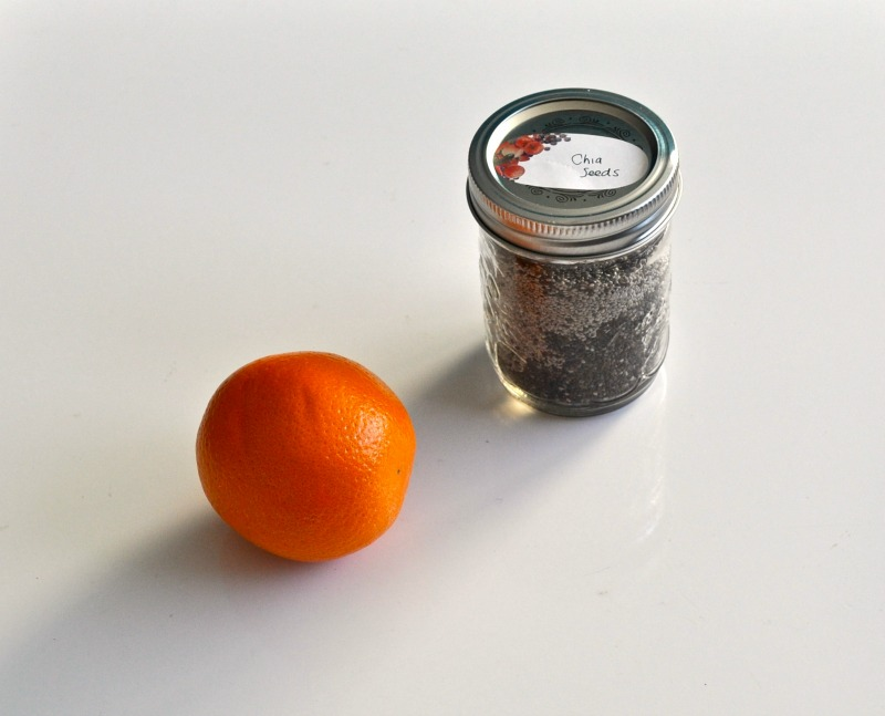 orange and chia seeds