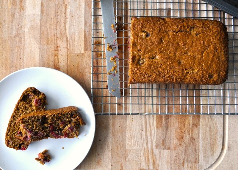 Pecan, orange and cranberry loaf recipe