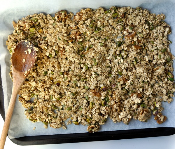 walnut, sunflower and pistachio granola