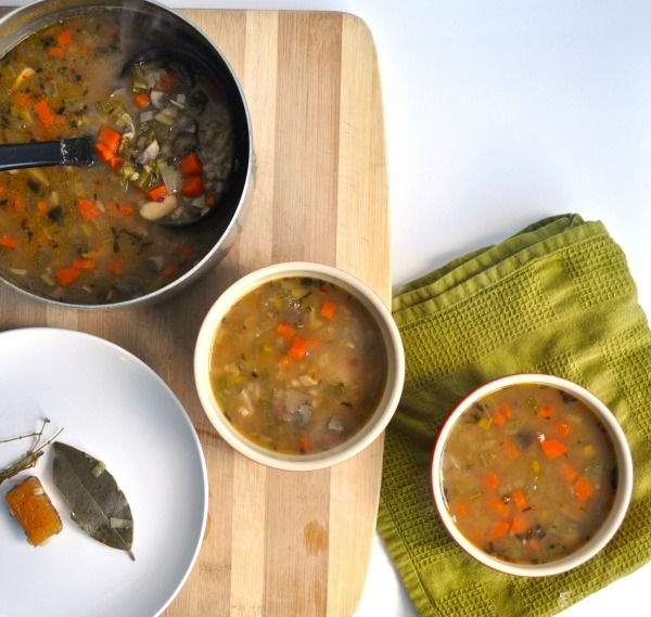 mushroom, bean and barley soup