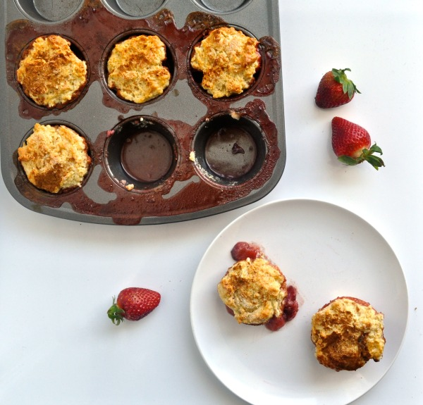 strawberry muffin tin cakes recipe