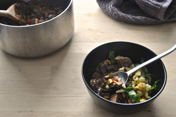 spaetzle with mushroom stew