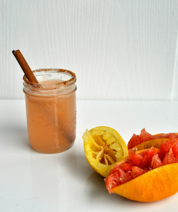 grapefruit and burnt honey cocktail