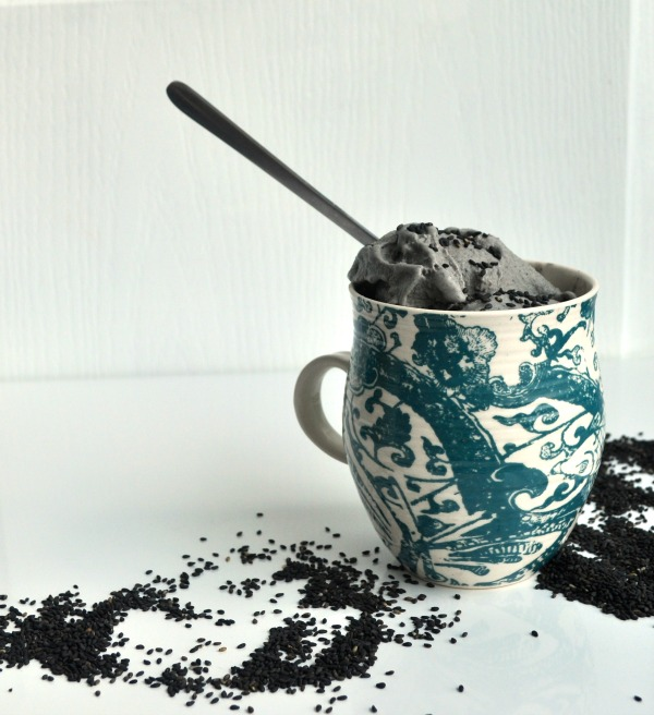 Black Sesame Ice Cream Recipe | My Second Breakfast