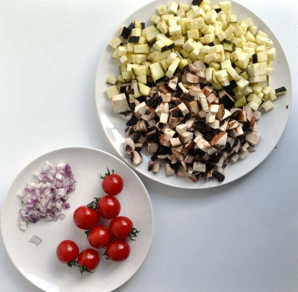 creamy portobello mushroom salad