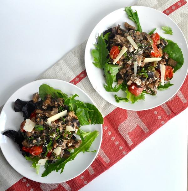 warm portobello mushroom salad