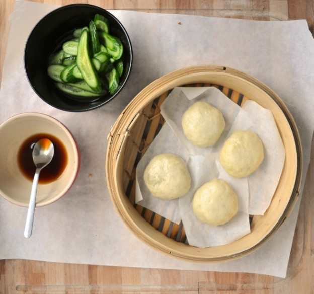 chinese tofu and mushroom steamed buns recipe