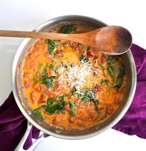 creamy tomato sauce