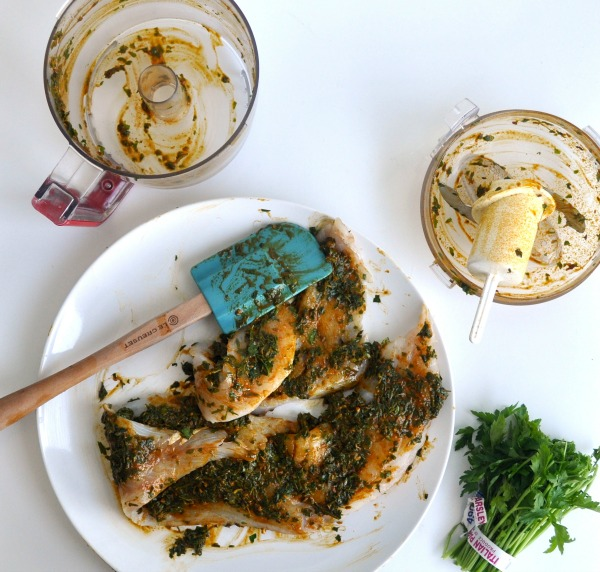 chermoula marinaded fish