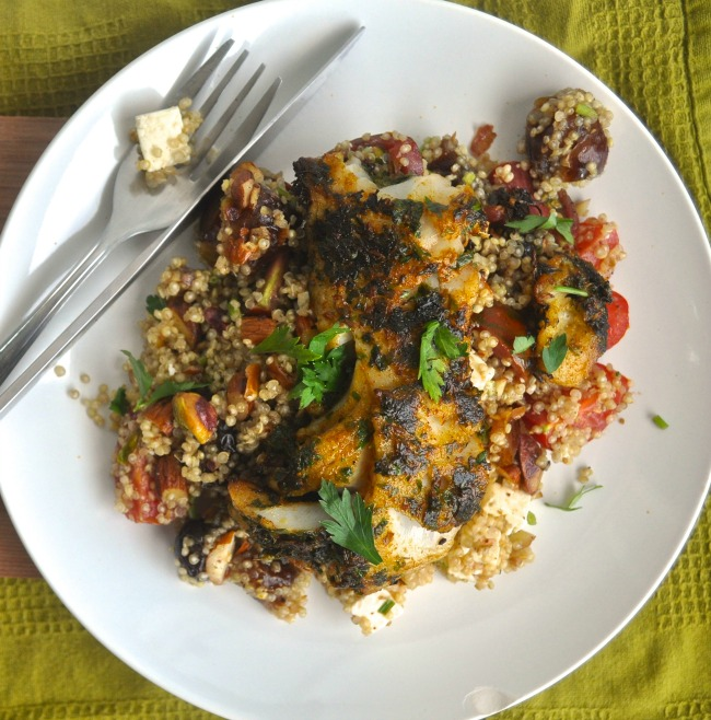 Moroccan Style Quinoa And Fish Recipe My Second Breakfast