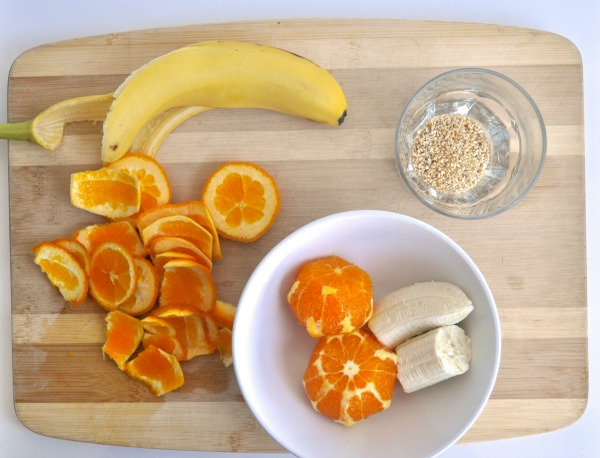 orange, banana and sesame
