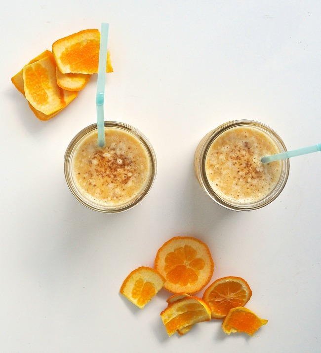 orange, sesame and banana smoothie