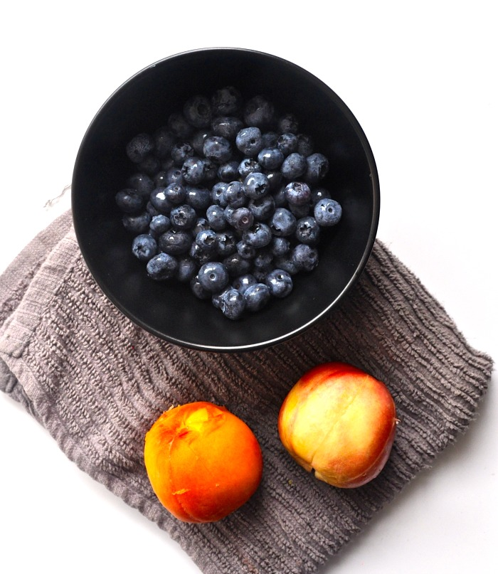 blueberries and stone fruit