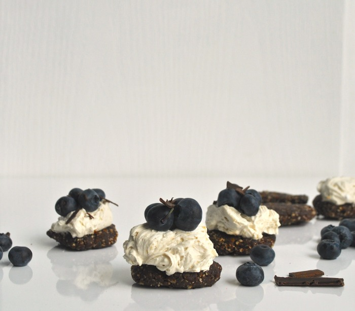 healthy coconut and blueberry stacks