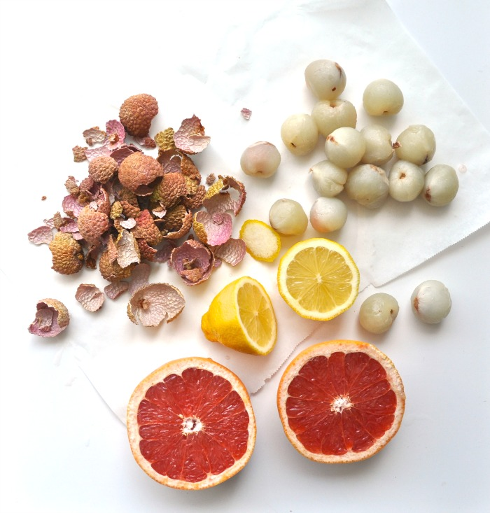 lychee, grapefruit and lemon