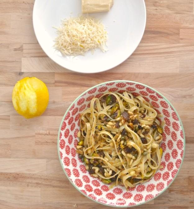sicilian inspired pasta recipe