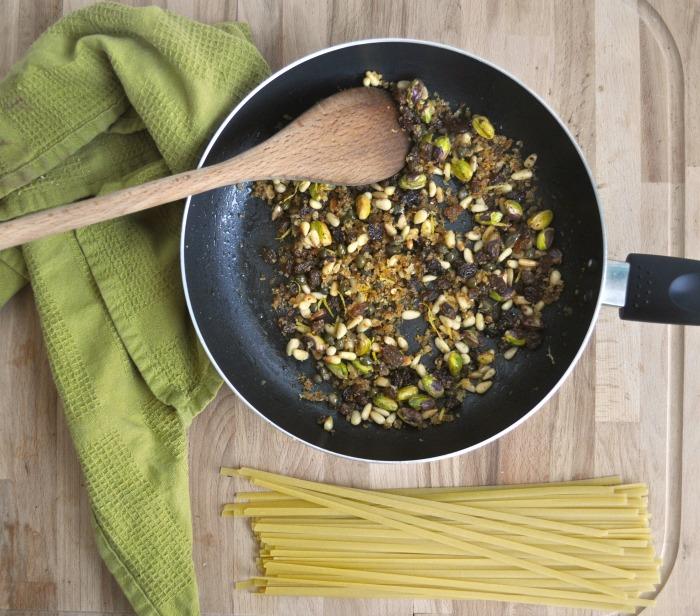 sicilian inspired pasta
