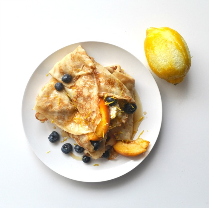 summer fruit crepes with ricotta