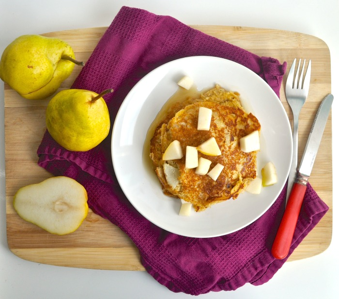 oat and pear pancakes