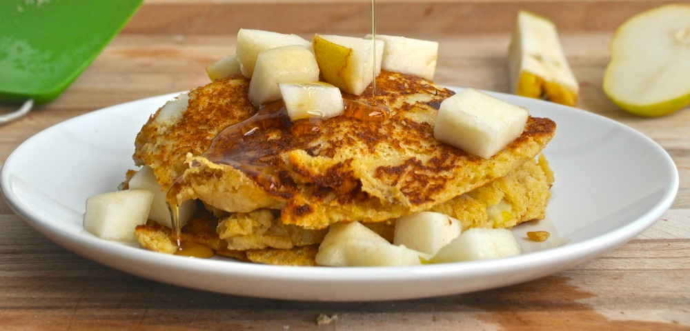 oat pear pancake