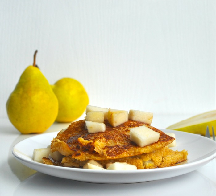 oat and pear pancakes recipe