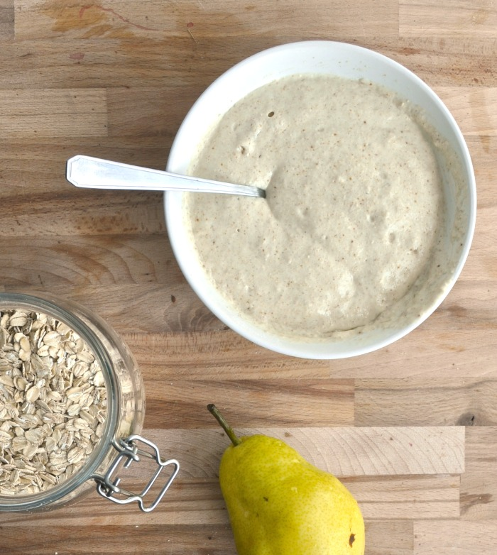 pear and oat pancakes