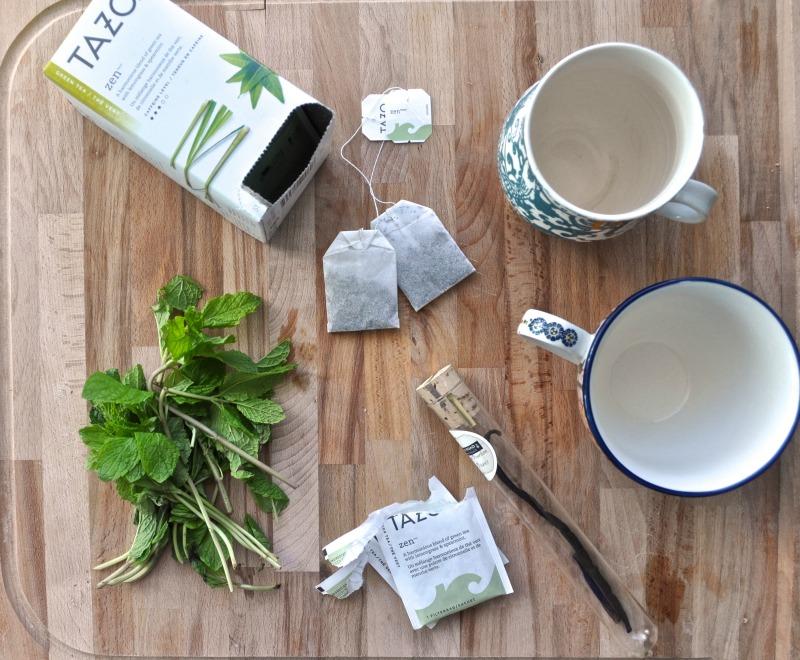 mint and vanilla green tea latte