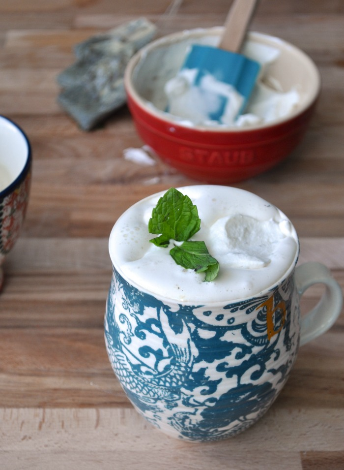 mint vanilla green tea latte