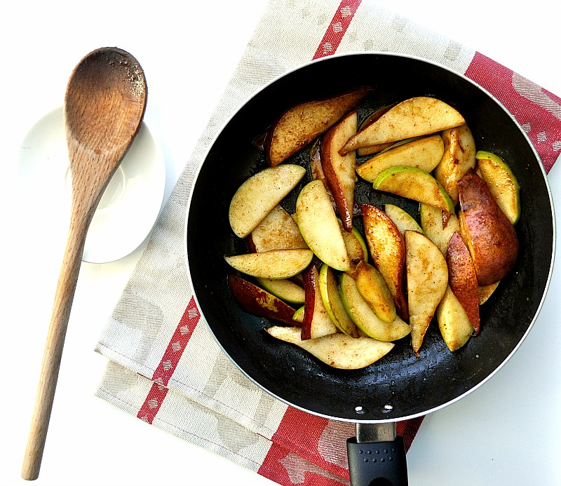 sauteed pears and apples