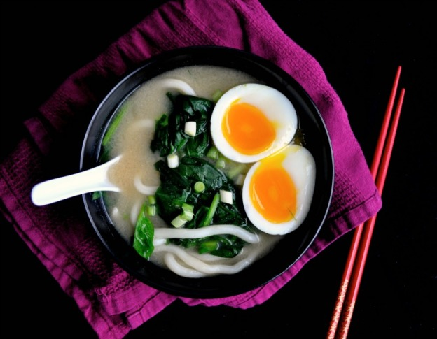 miso udon soup with soft boiled egg recipe