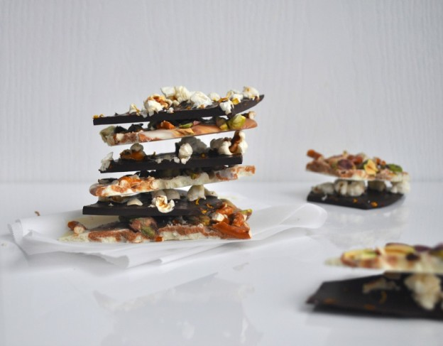 White and Dark Chocolate Bark