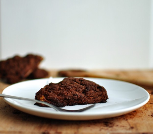 Double chocolate pear scones