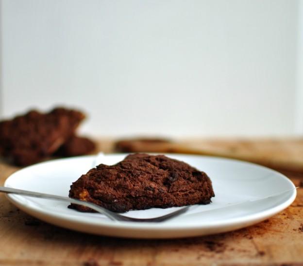 Double chocolate pear scones