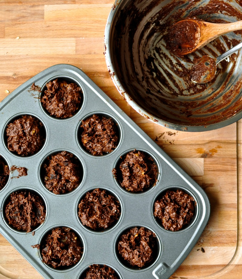 double chocolate banana coconut cupcakes