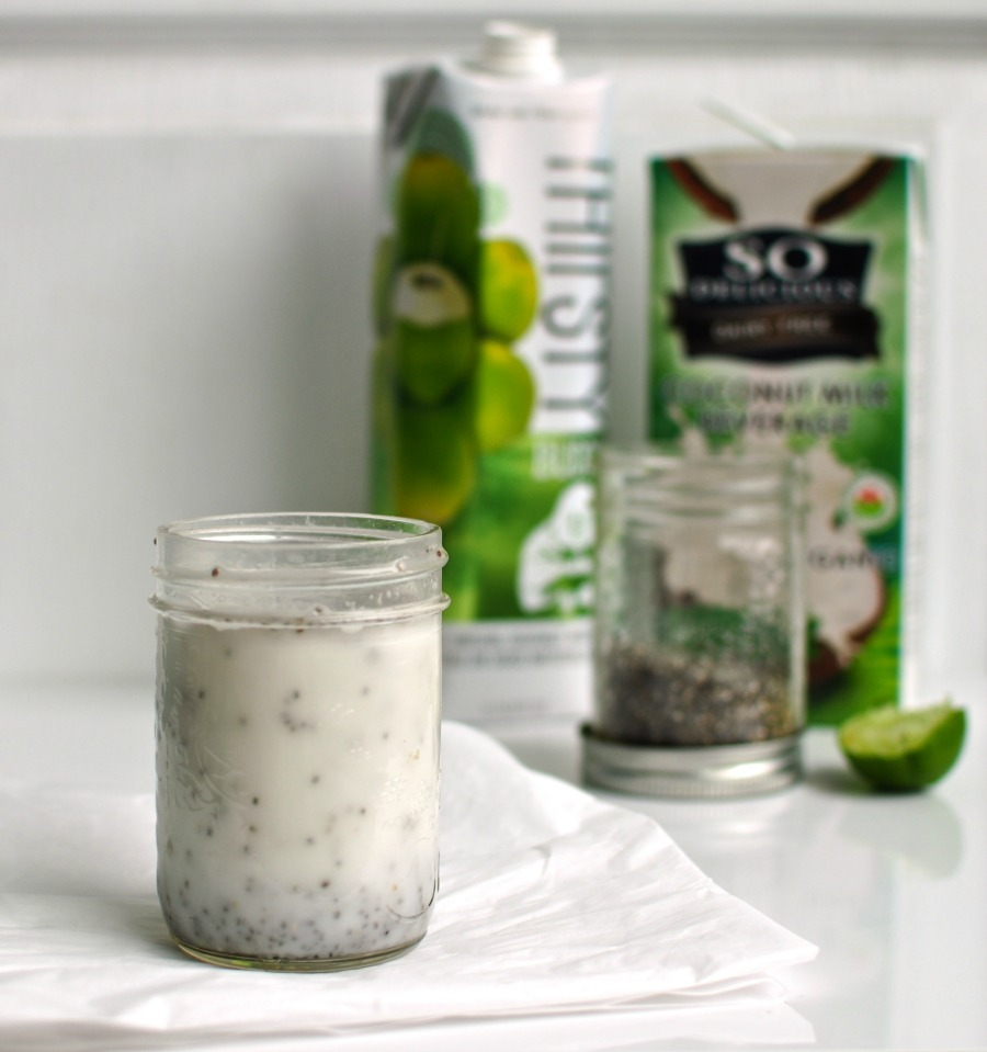 coconut chia drink